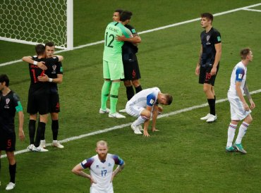 World Cup - Group D - Iceland vs Croatia - Rostov Arena, Rostov-on-Don, Russia - June 26, 2018 Iceland and Croatia players after the match. Reuters