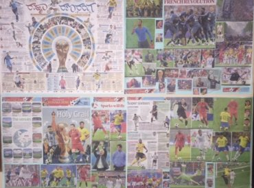 Collage of pages from DH covering FIFA World Cup 2018.