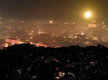 Fireworks light the sky during 'Diwali' celebrations, in Guwahati, Wednesday, Nov 07, 2018. (PTI Photo)