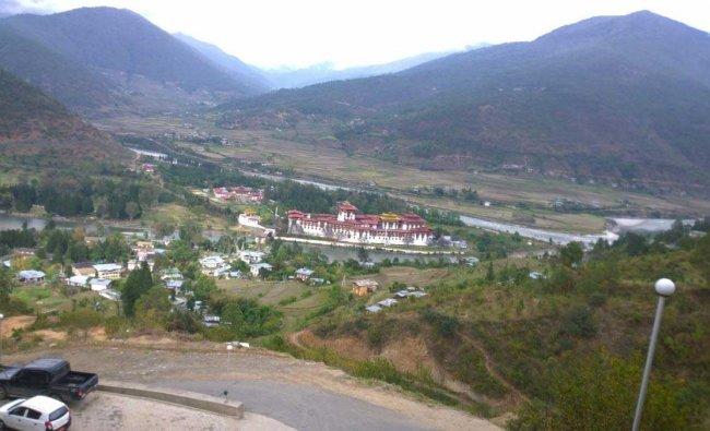 A view of Punakha Dzong