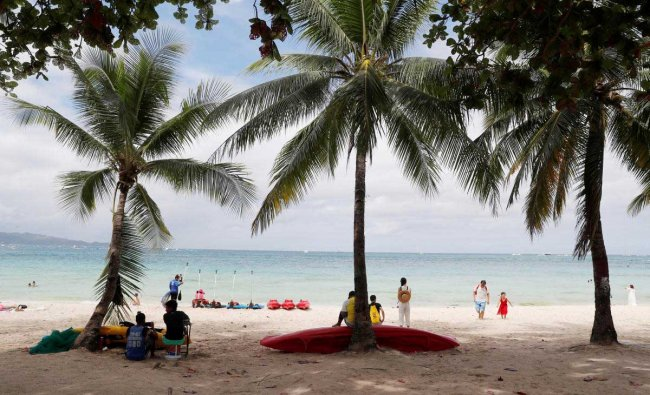 A view of a beach at Boracay in Philippines. Reuters Photo