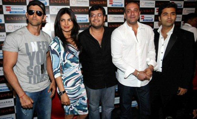Hrithik Roshan, Priyanka Chopra, Karan Malhotra, Sanjay Dutt and Karan Johar