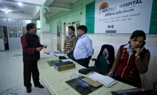 Dalit enterpreneur Hari Kishan Pippal at his hospital reception