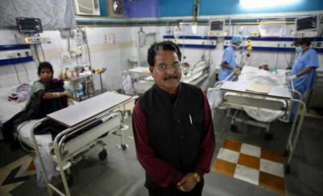 Dalit enterpreneur Hari Kishan Pippal at his hospital