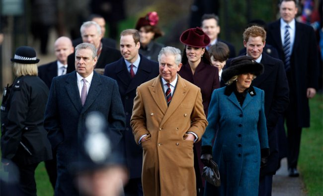 British Royal family members arrive to attend a Christmas service