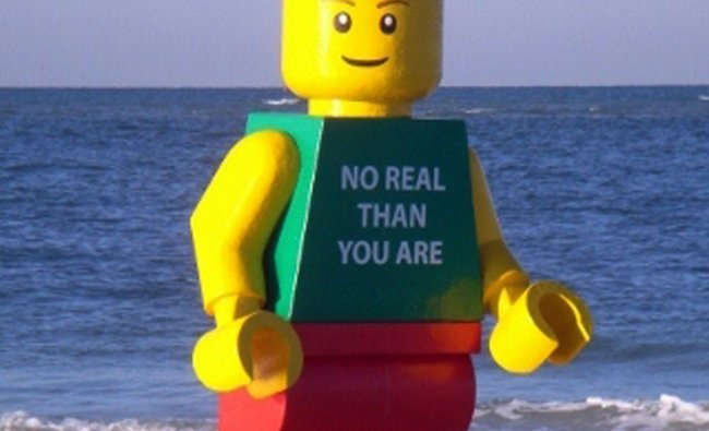A statue made to look like a Lego man that was found on Siesta Key beach in Sarasota