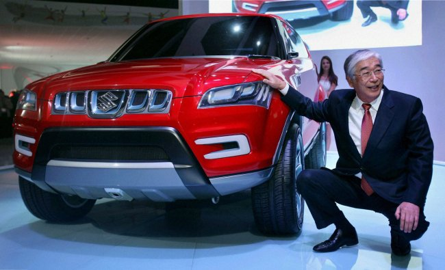 Suzuki\'s XA (Alpha), concept for a compact SUV, on display at Auto Expo 2012
