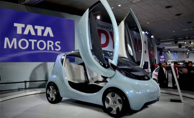 Tata Pixel, a new city concept car, on display at the 11th Auto Expo 2012