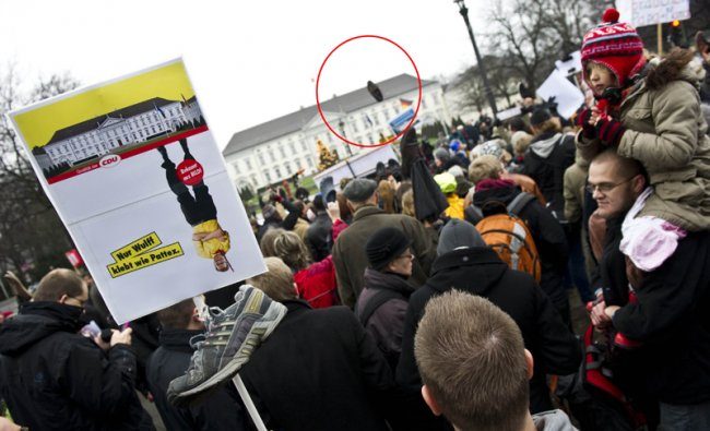 Protest against German President Christian Wulff