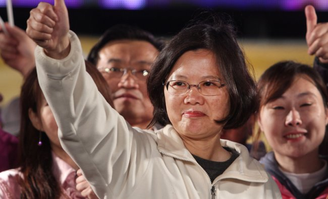 Tsai Ing-wen of the Taiwanese opposition Democratic Progressive party