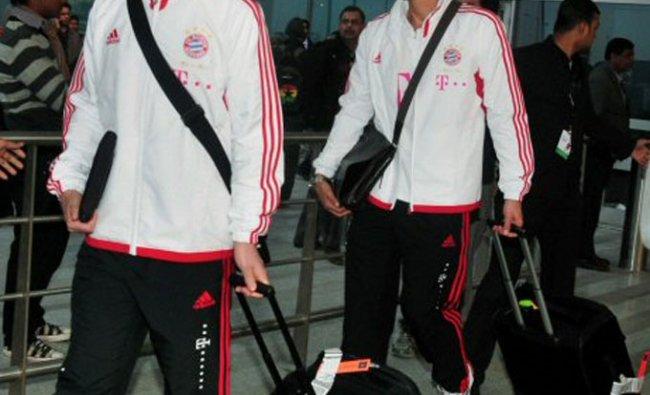 FC Bayern Munich players arriving at IGI airport, New Delhi
