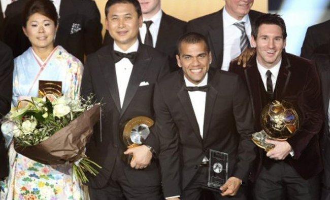 Winners at FIFA Ballon d\'Or awarding ceremony