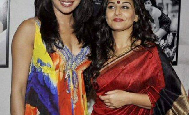 Actors Priyanka Chopra and Vidya Balan ...