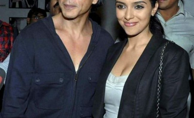 Shah Rukh Khan and Asin at the launch of a calendar...