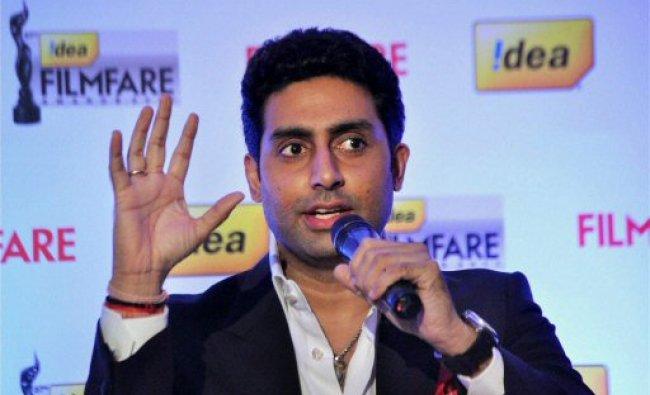 Abhishek Bachchan at the announcement ...