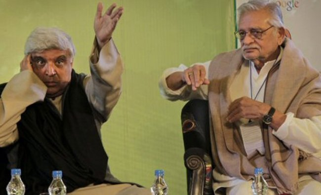 Javed Akhtar and Gulzar at the Jaipur Literature festival