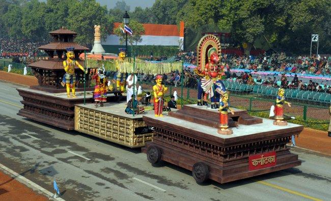 Bhootaradane-Karnataka\'s tableaux for the Republic day parade