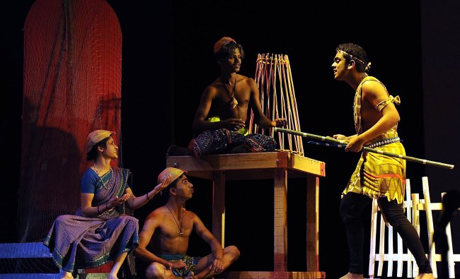 Kundapura Samudaya stage kulam play at Ravindra Kalakshetra