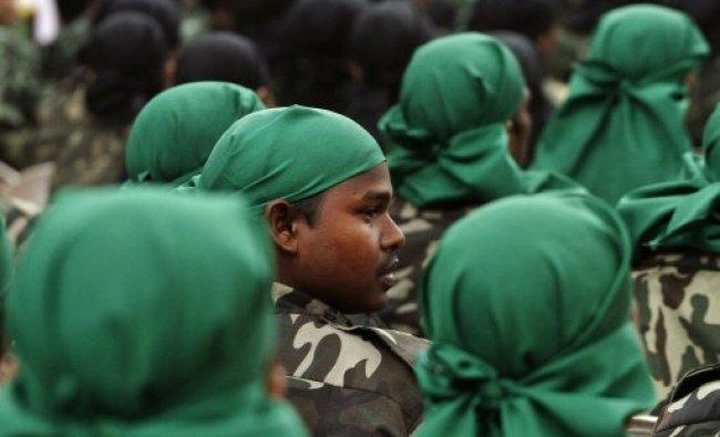 Militants of separatists group of Assam wait to surrender...