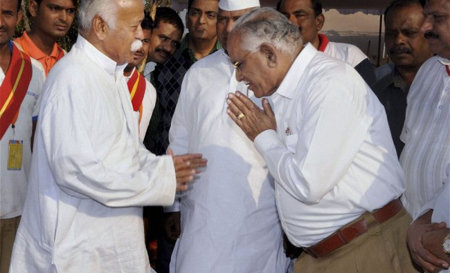 BSY meets RSS chief Mohan Bhagawat
