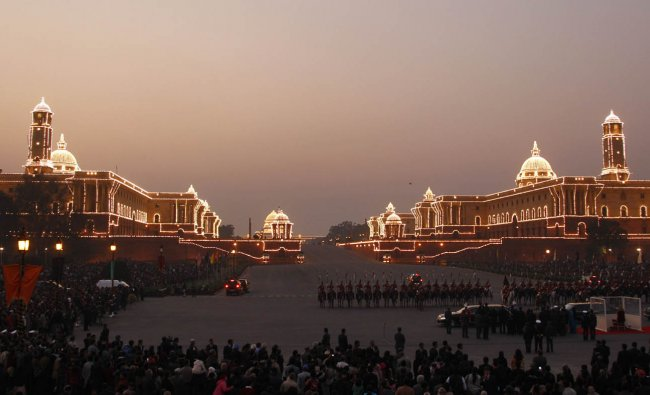 Beating Retreat ceremony in New Delhi