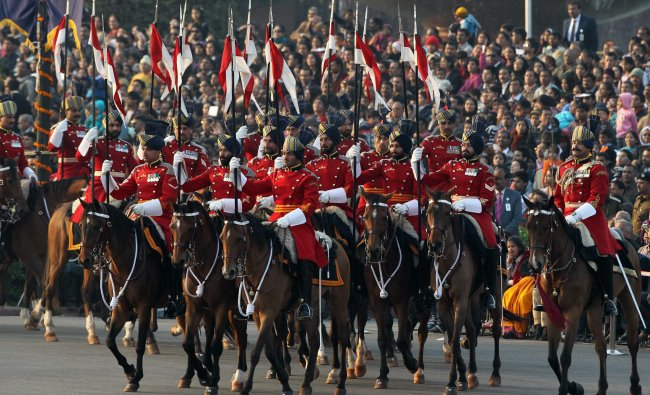 President\'s bodyguards at the Beating Retreat ceremony