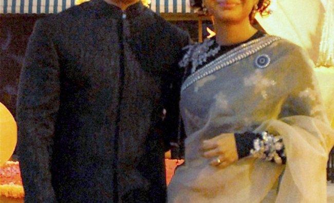 Aamir Khan and wife Kiran Rao attend industrialist Ghanshyam Sarda\'s daughter Prerna\'s marriage