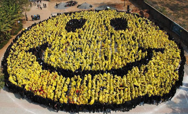 The Largest human-made \'smiley face\'