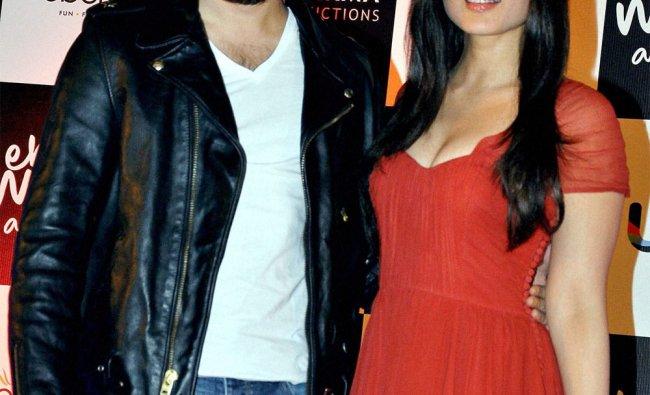 Imran Khan and Kareena Kapoor at a promotional event for their film \'Ek Main Aur Ekk Tu\'