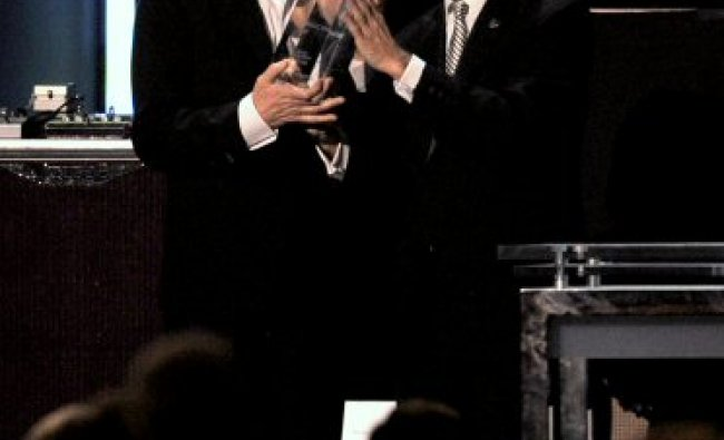 Sir Paul McCartney recieving the MusiCares Person of the Year award