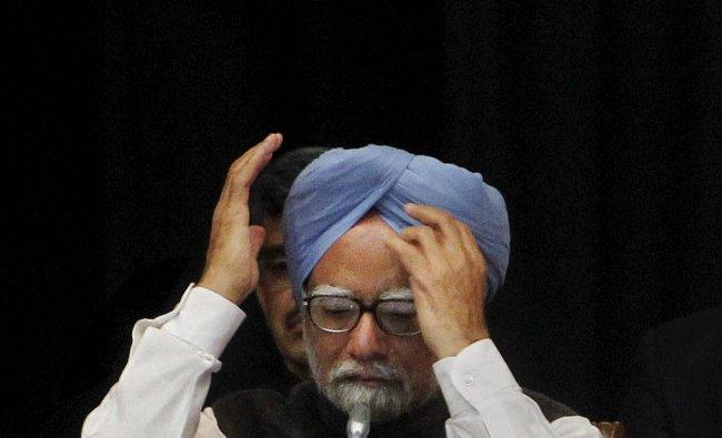 Prime Minister Manmohan Singh at Rashtrapati Bhawan