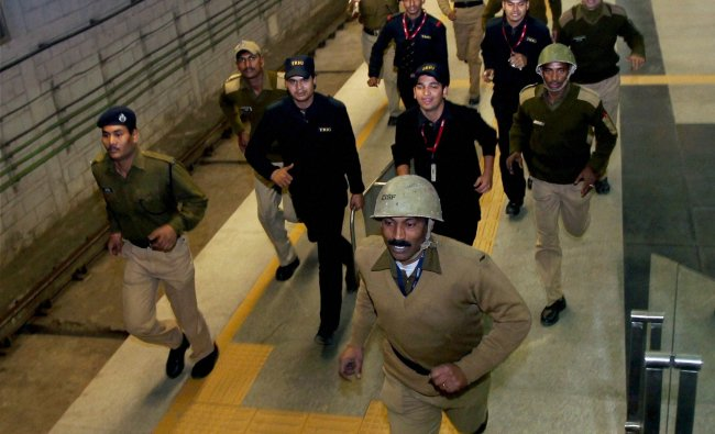 Mock drill organised by Delhi Disaster Management Authority