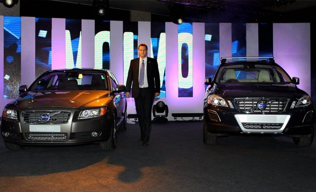 The launch of new variants S60, S80 and XC60 in New Delhi