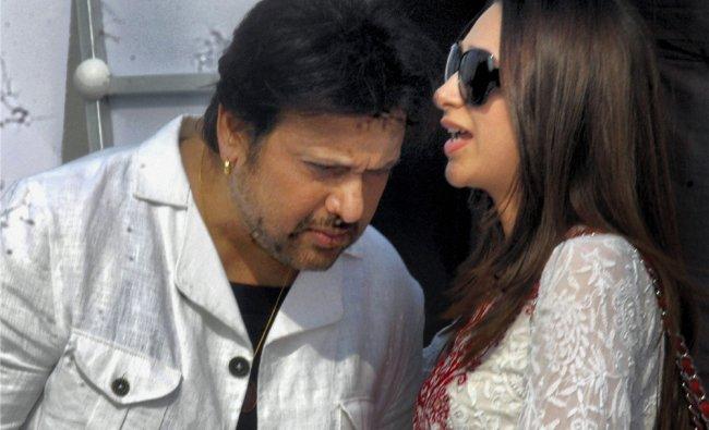 Actors Govinda and Karishma Kapoor at an event in Kolkata