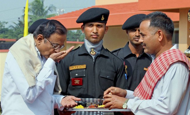 Union Home Minister P Chidambaram during the inauguration of an NSG hub
