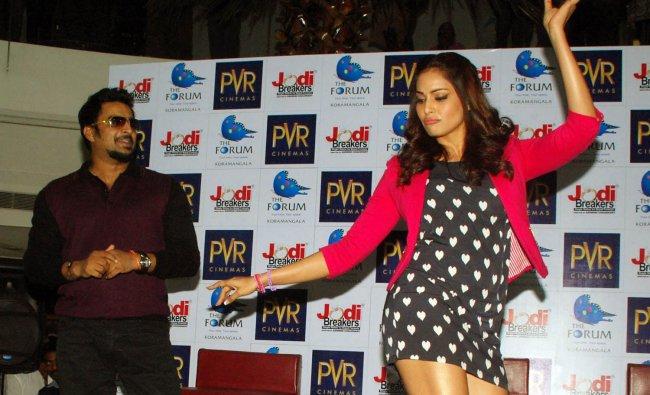 Bipasha Basu during a promotion of Jodi Breakers