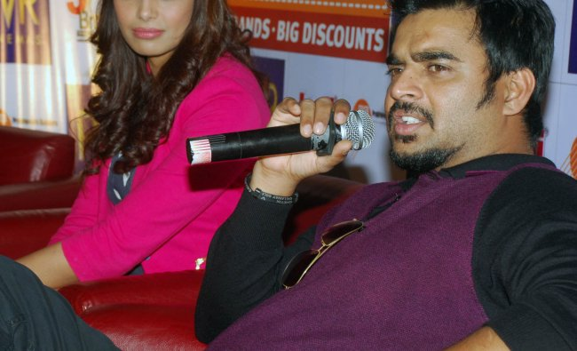 Madhavan during a promotion of Jodi Breakers at Forum Mall in Bangalore