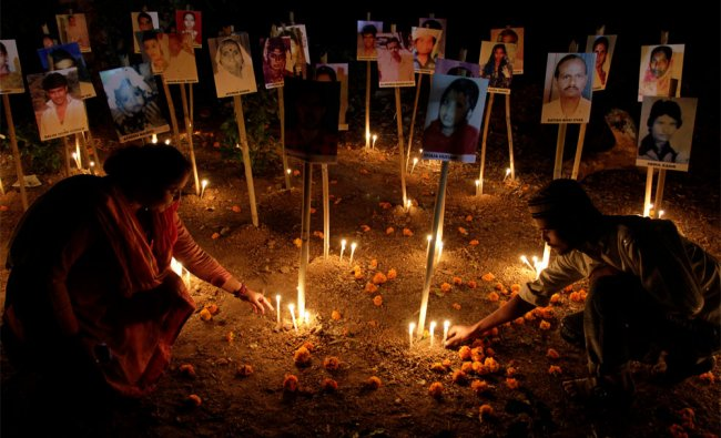 A candlelight vigil to mark the 10th anniversary of the Gujarat riots