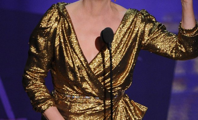 Actress Meryl Streep accepts the Oscar for Best Actress onstage