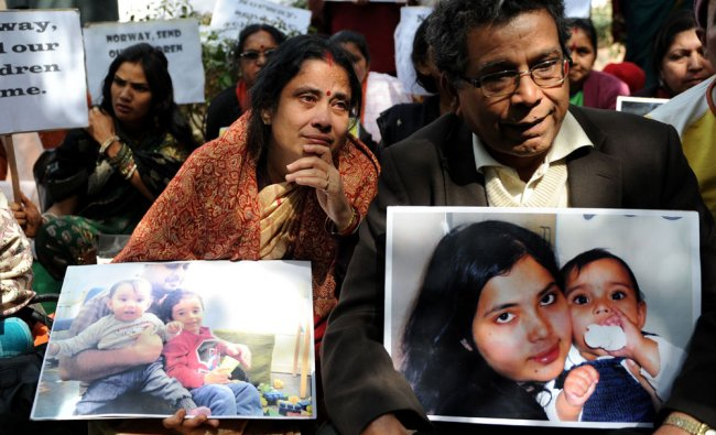 Grandparents of two NRI kids in Norway stage a protest demanding their return to India