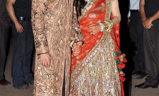 Wedding reception of Dheeraj Deshmukh and Honey Bhagnani