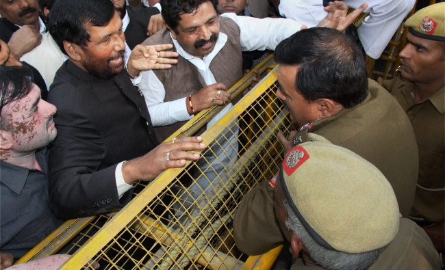 Lok Janashakti Party President Ram Vilas Paswan...