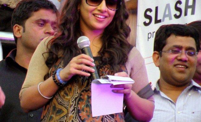 Vidya Balan at a promotional event in Faridabad