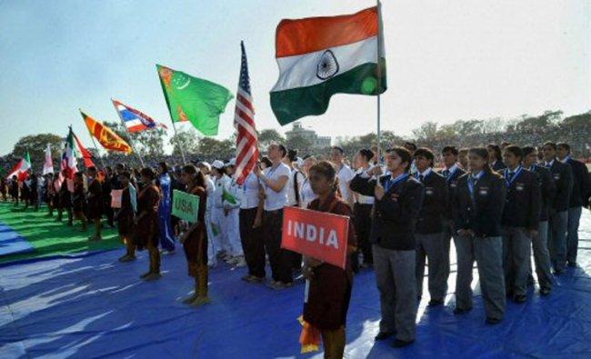 World Cup Kabaddi at the inaugural ceremony