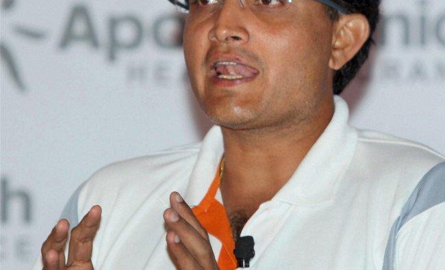 Former Indian cricketer Sourav Ganguly...