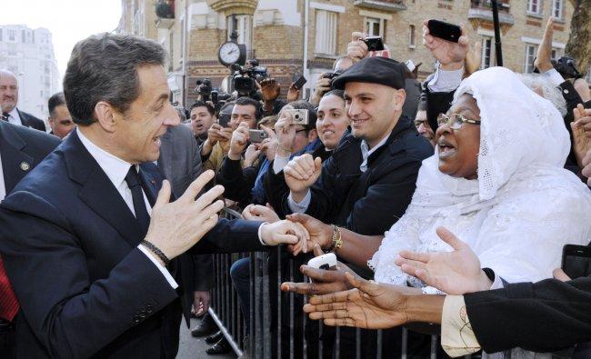 France\'s President Nicolas Sarkozy...