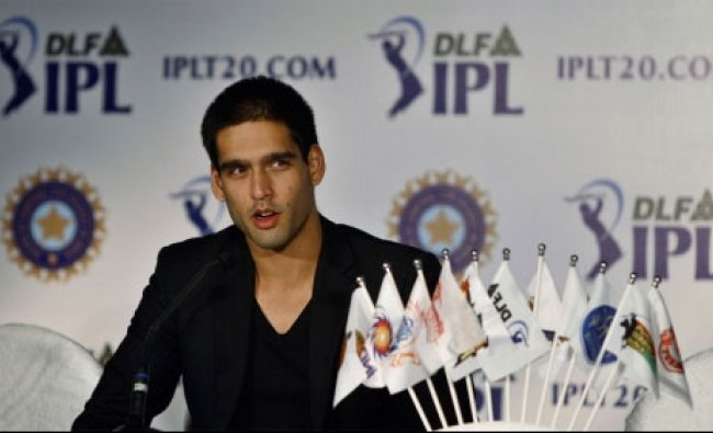 Siddharth Mallya, RCB team in-charge speaks during a press conference at the IPL-5 auction
