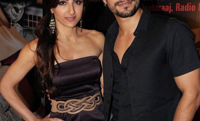 actors Soha Ali Khan and Kunal Khemu at the success party of the film Blood Money in Mumbai