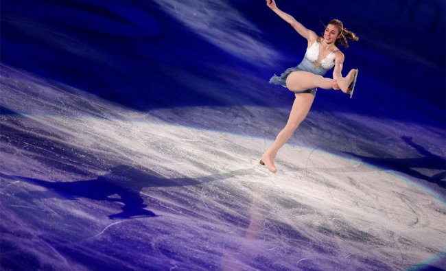 Ashley Wagner of the US performs during the ISU World Team Trophy figure skating in Tokyo