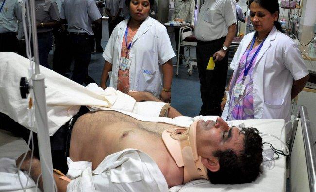Injured pilot of Jharkhand Chief Minister Arjun Munda\'s chopper